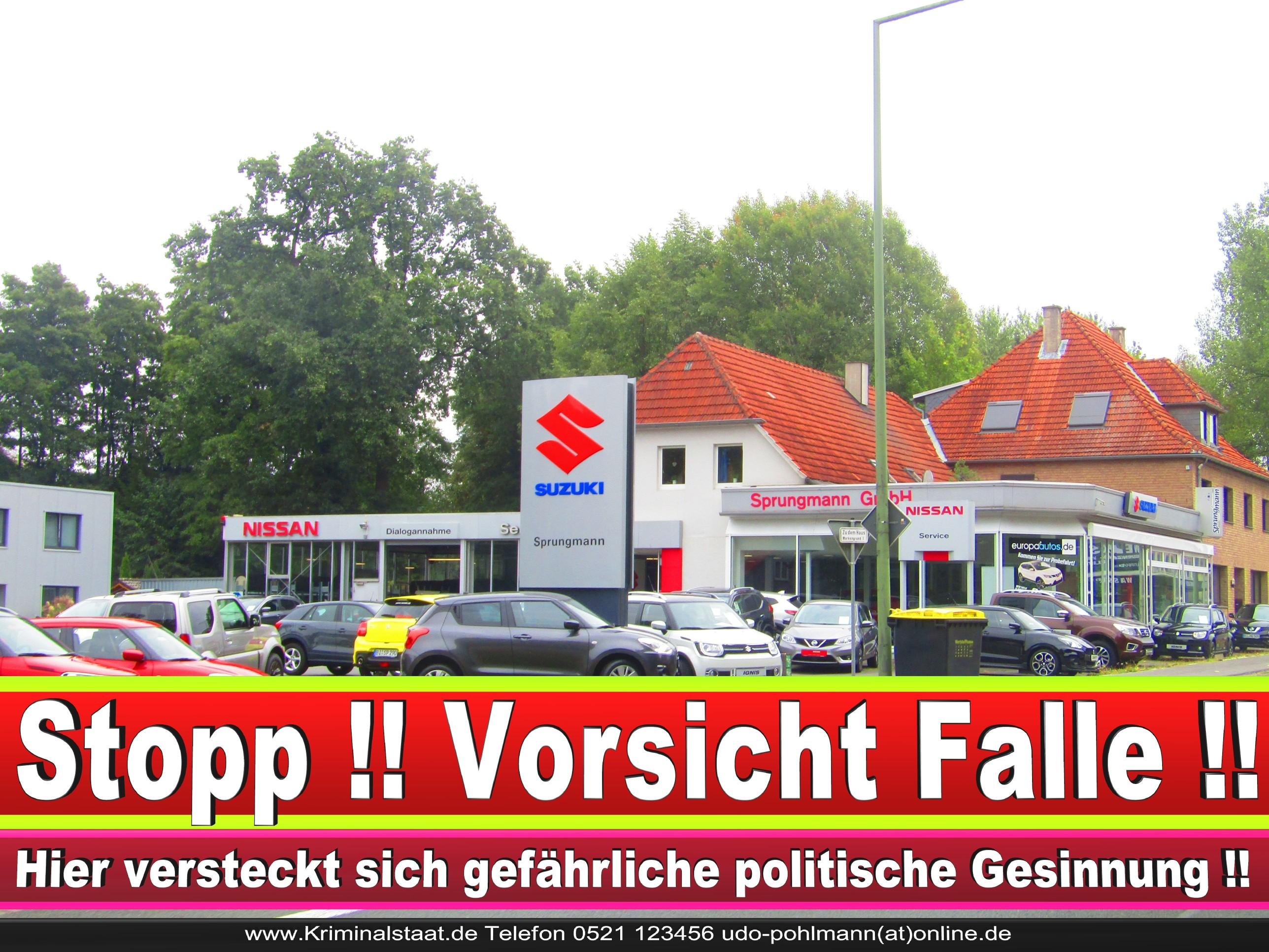AUTOHAUS SPRUNGMANN CDU BIELEFELD 2 LANDTAGSWAHL BUNDESTAGSWAHL BÜRGERMEISTERWAHL