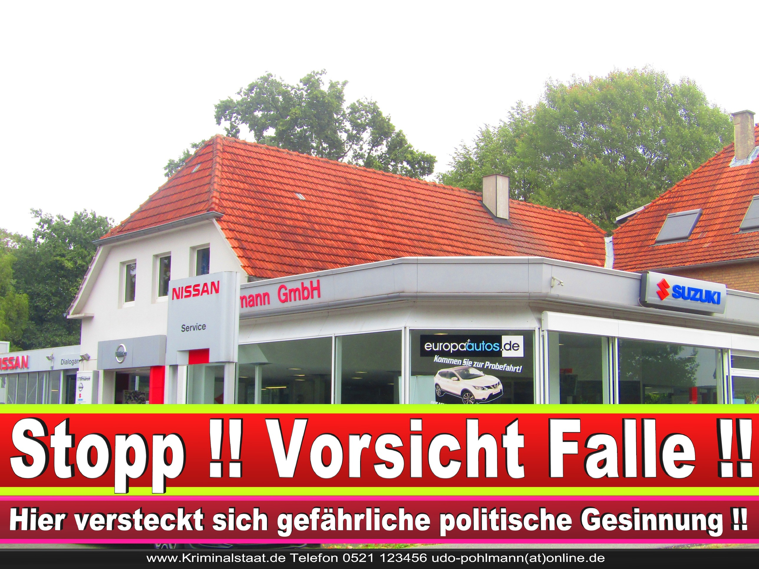 AUTOHAUS SPRUNGMANN CDU BIELEFELD 6 LANDTAGSWAHL BUNDESTAGSWAHL BÜRGERMEISTERWAHL