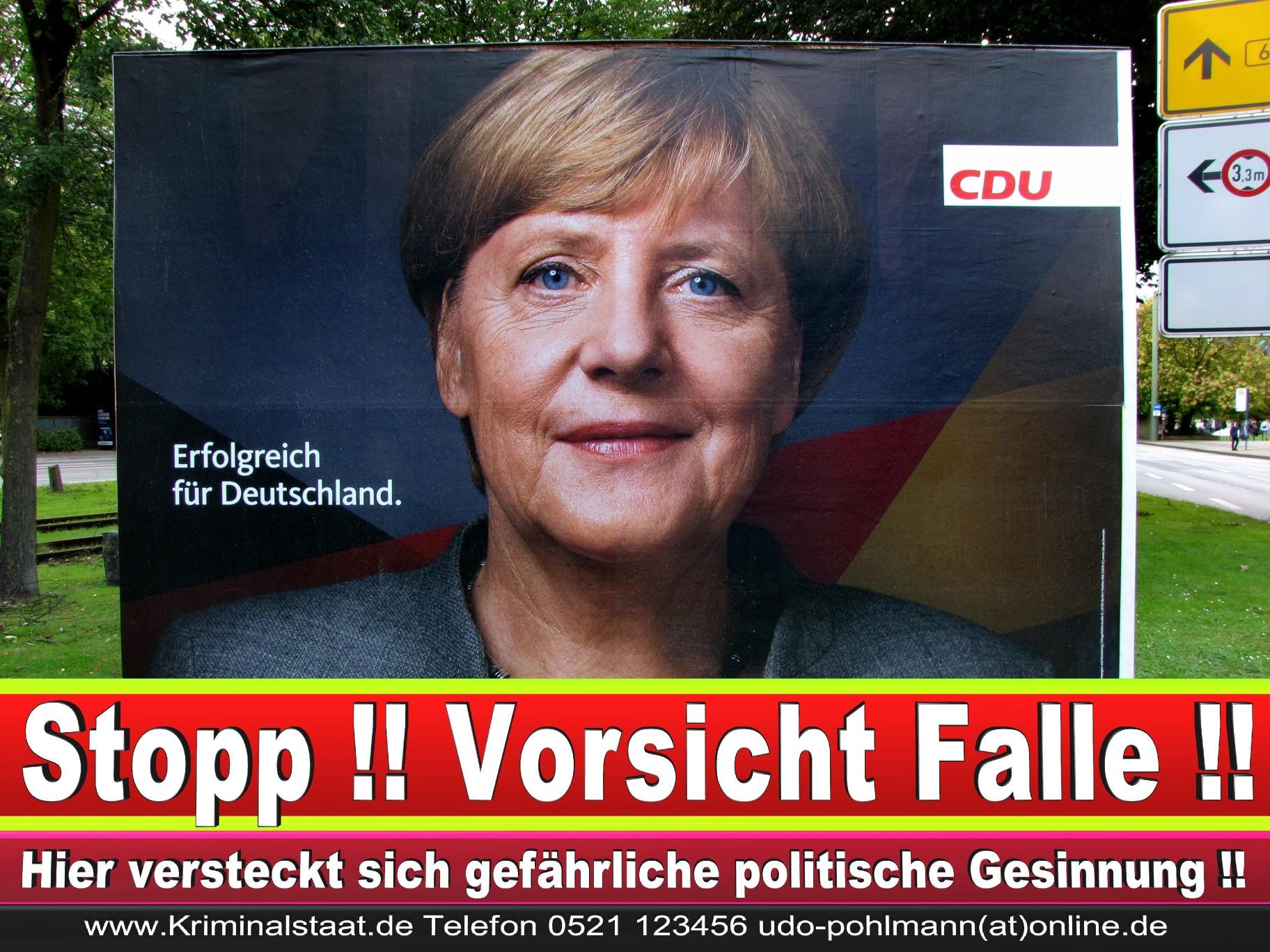 Angela Merkel Wahlplakat Wahlwerbung Bielefeld Volksverhetzung Durch Religion 1