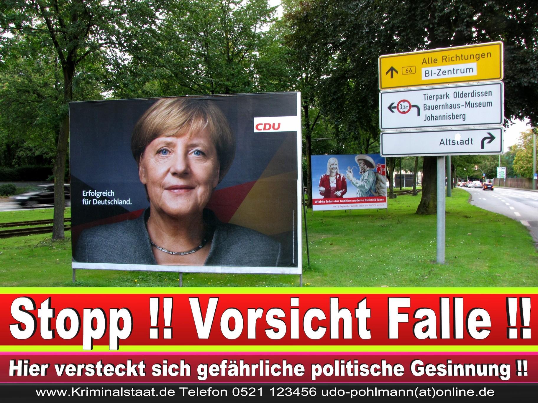 Angela Merkel Wahlplakat Wahlwerbung Bielefeld Volksverhetzung Durch Religion 4