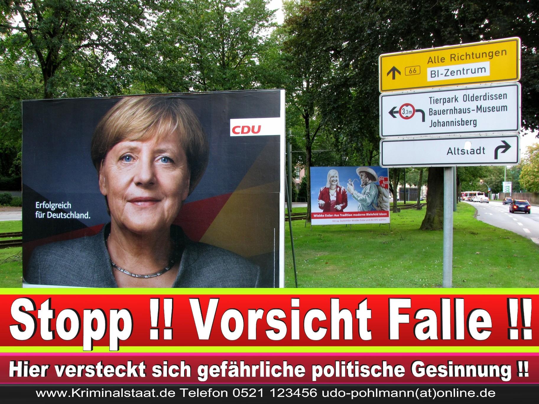 Angela Merkel Wahlplakat Wahlwerbung Bielefeld Volksverhetzung Durch Religion 5