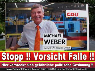 Michael Weber CDU Wahlplakat Wahlwerbung Bielefeld Volksverhetzung Durch Religion 1