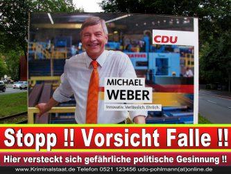 Michael Weber CDU Wahlplakat Wahlwerbung Bielefeld Volksverhetzung Durch Religion 2