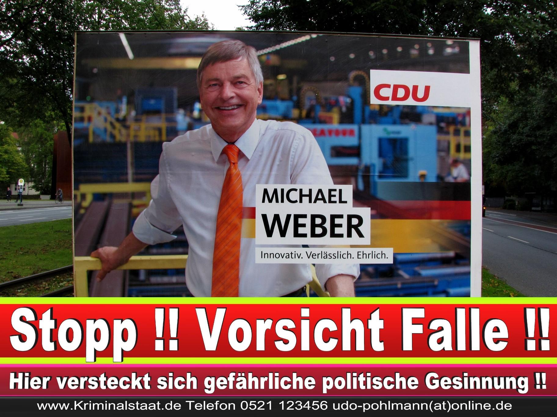 Michael Weber CDU Wahlplakat Wahlwerbung Bielefeld Volksverhetzung Durch Religion 3