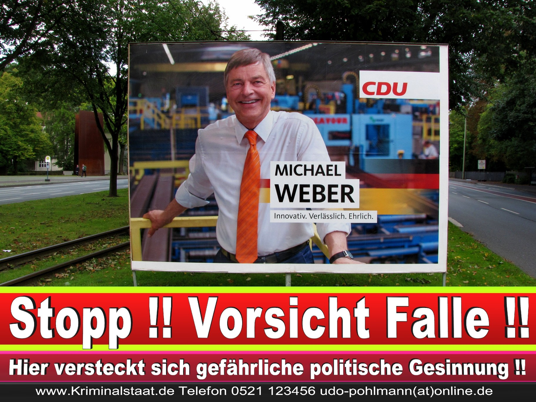 Michael Weber CDU Wahlplakat Wahlwerbung Bielefeld Volksverhetzung Durch Religion 4