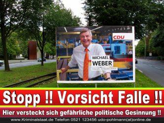 Michael Weber CDU Wahlplakat Wahlwerbung Bielefeld Volksverhetzung Durch Religion 6
