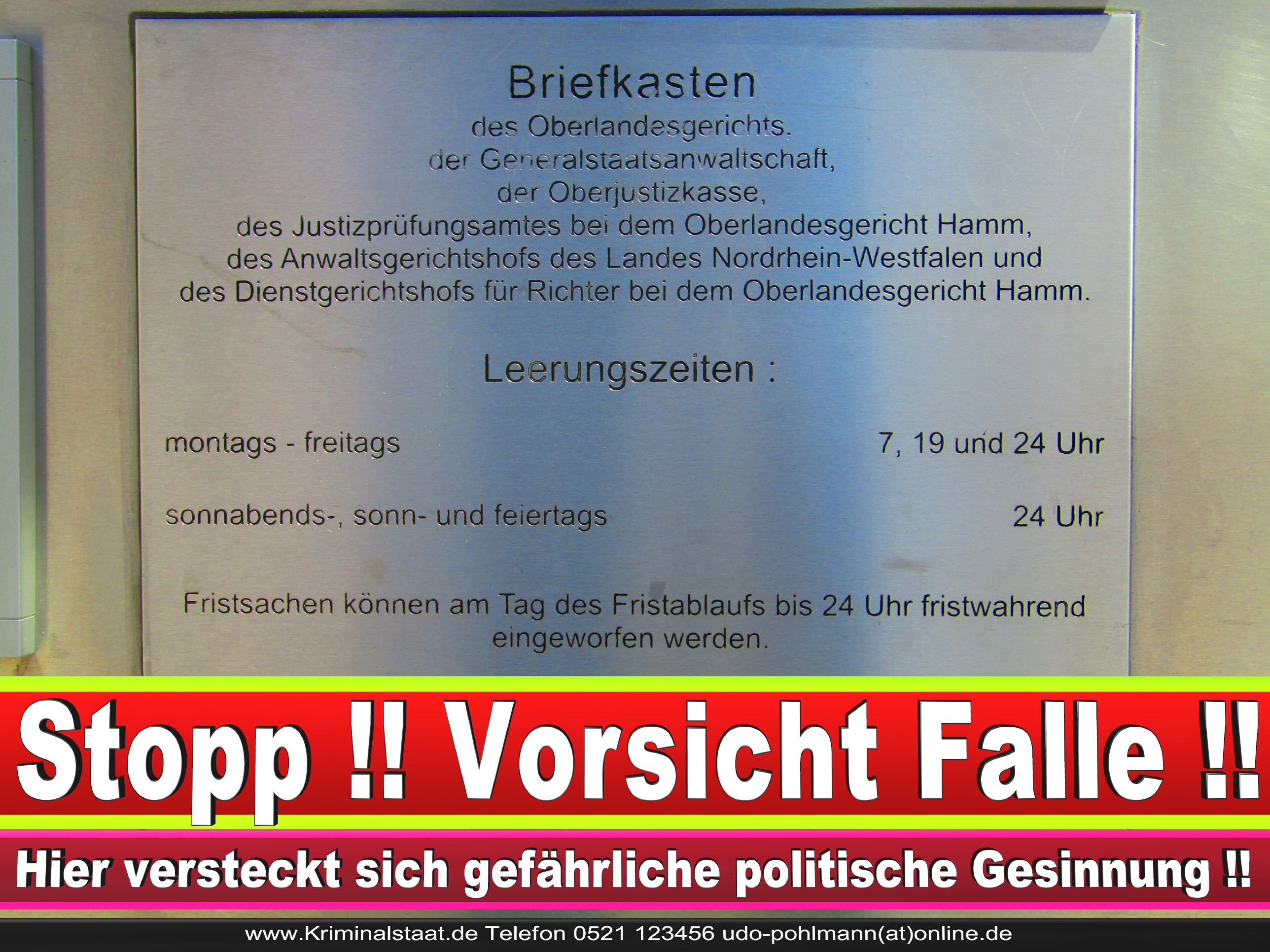 OLG Hamm Oberlandesgericht Hamm Landgericht Polizei Staatsanwaltschaft Generalstaatsanwaltschaft StA GeStA Praktikum Korruption Rechtsbeugung Richter Justiz Justizministerium (31)