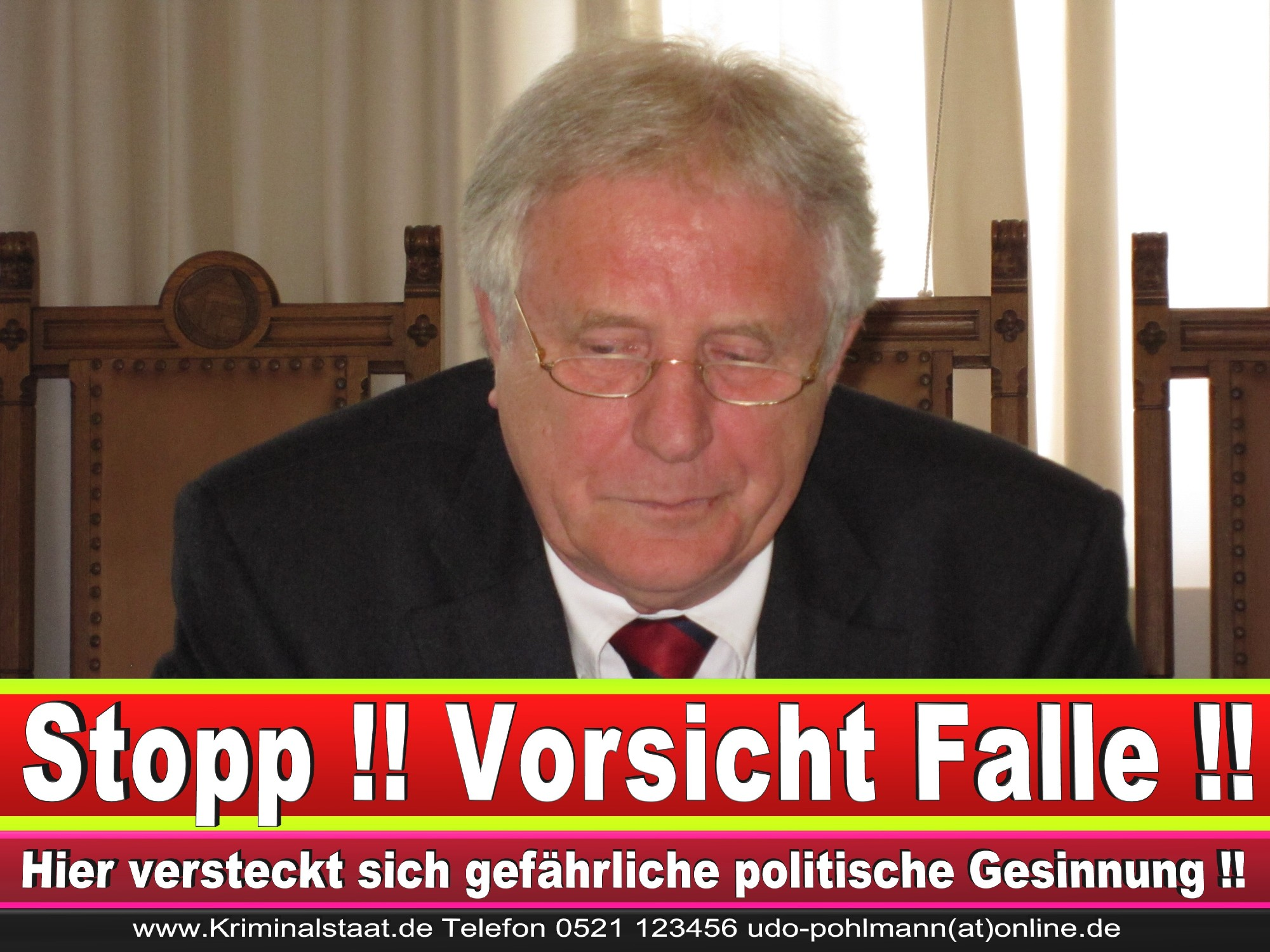 Polizeipräsident Erwin Südfeld Bielefeld Oberbürgermeister Bürgermeister Peter Clausen Pit Clausen Bielefeld (3)