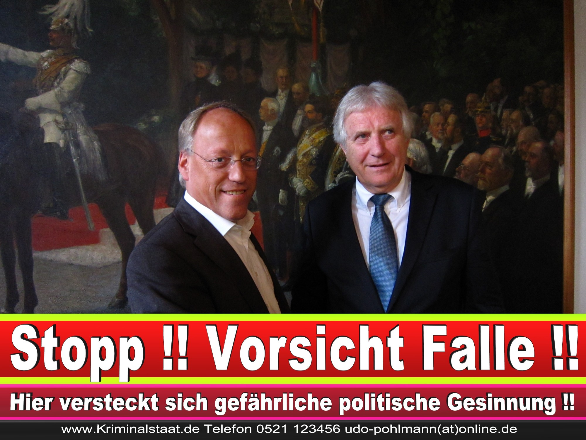 Polizeipräsident Erwin Südfeld Bielefeld Oberbürgermeister Bürgermeister Peter Clausen Pit Clausen Bielefeld (55)