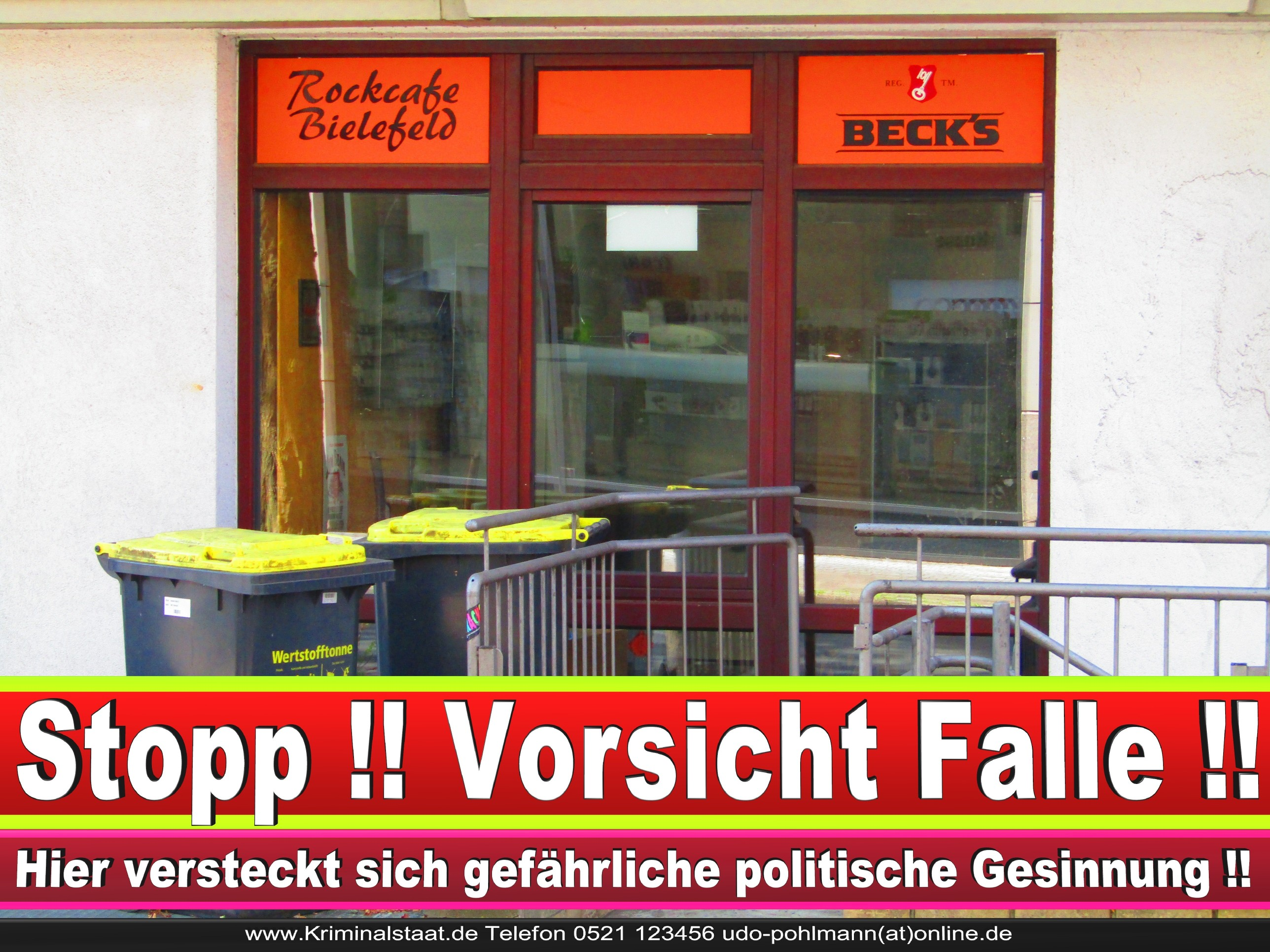 ROCK CAFE BIELEFELD CDU BIELEFELD Inhaber Niklas Meyer Und Markus Prange 1 LANDTAGSWAHL BUNDESTAGSWAHL BÜRGERMEISTERWAHL