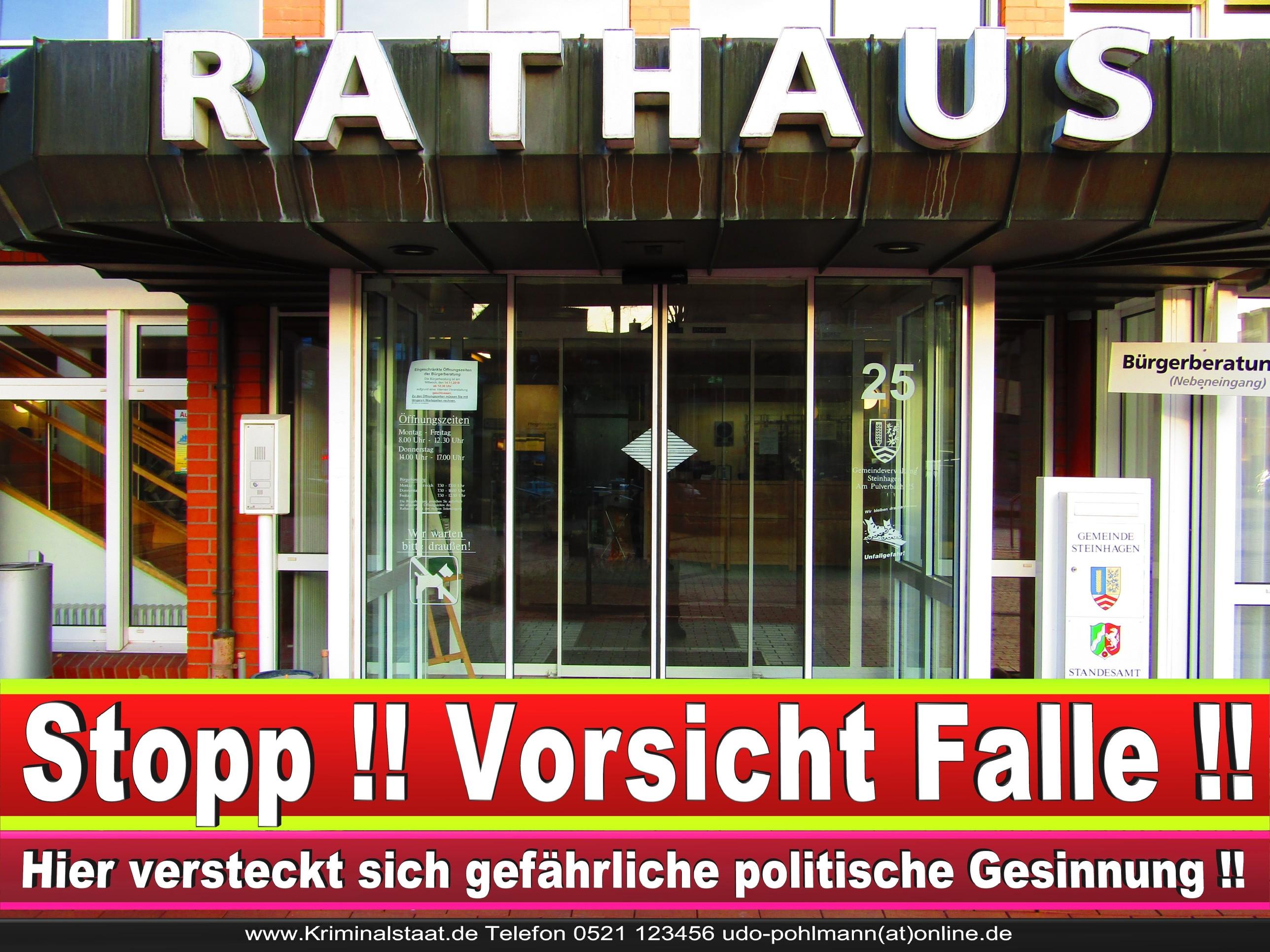 Rathaus Steinhagen CDU SPD FDP Ortsverband CDU Bürgerbüro CDU SPD Korruption Polizei Bürgermeister Karte Telefonbuch NRW OWL (1)