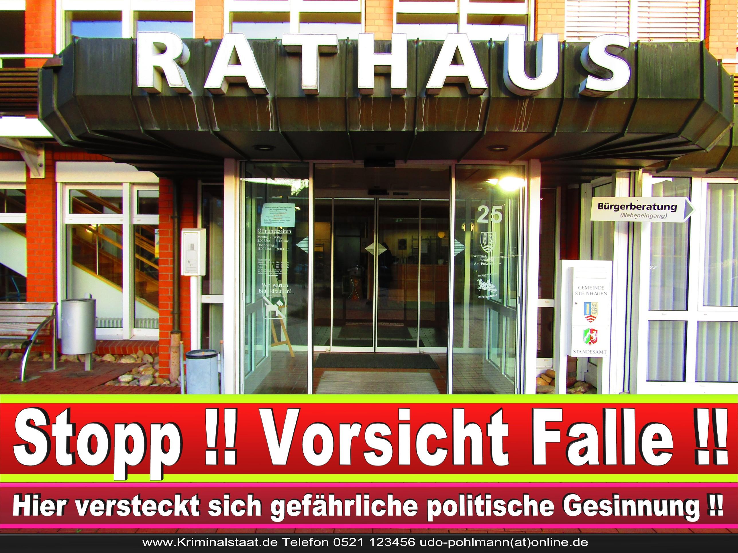 Rathaus Steinhagen CDU SPD FDP Ortsverband CDU Bürgerbüro CDU SPD Korruption Polizei Bürgermeister Karte Telefonbuch NRW OWL (15)