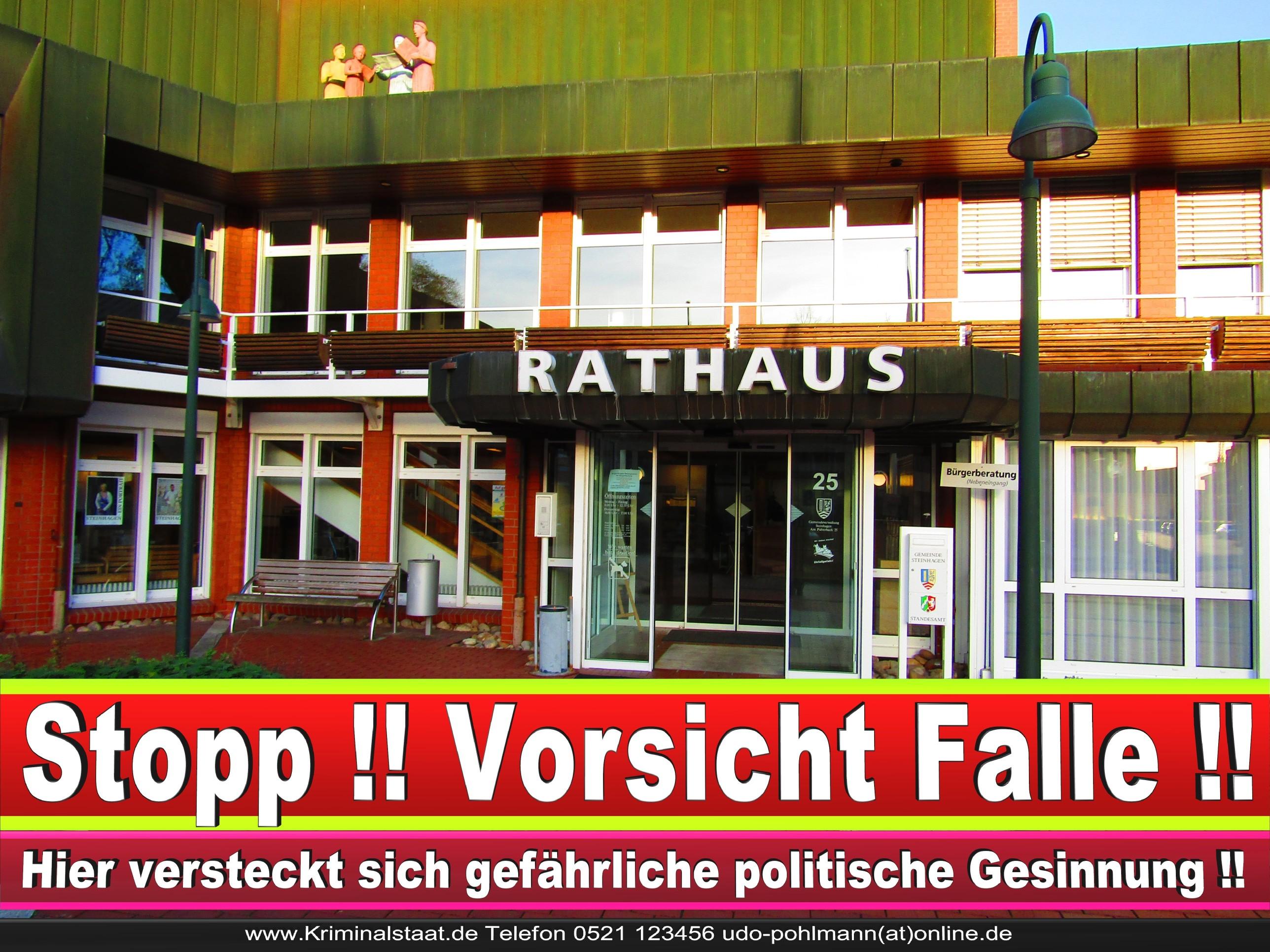 Rathaus Steinhagen CDU SPD FDP Ortsverband CDU Bürgerbüro CDU SPD Korruption Polizei Bürgermeister Karte Telefonbuch NRW OWL (16)