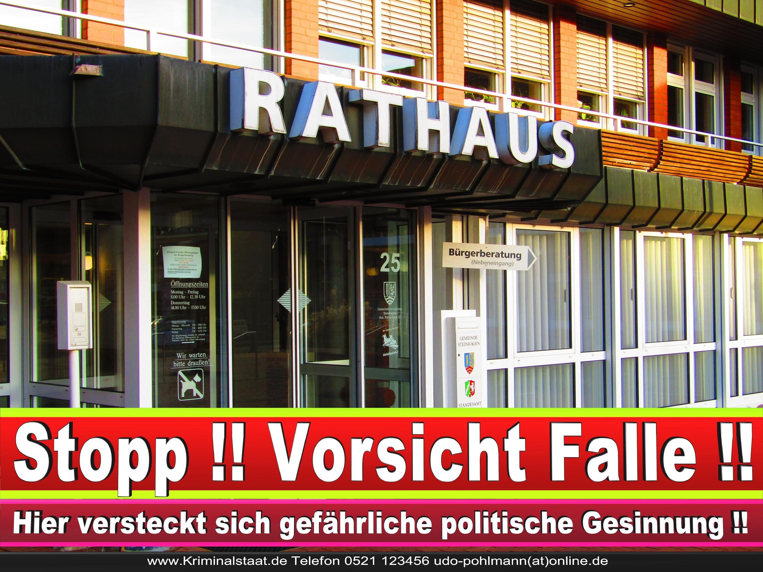 Rathaus Steinhagen CDU SPD FDP Ortsverband CDU Bürgerbüro CDU SPD Korruption Polizei Bürgermeister Karte Telefonbuch NRW OWL (21)