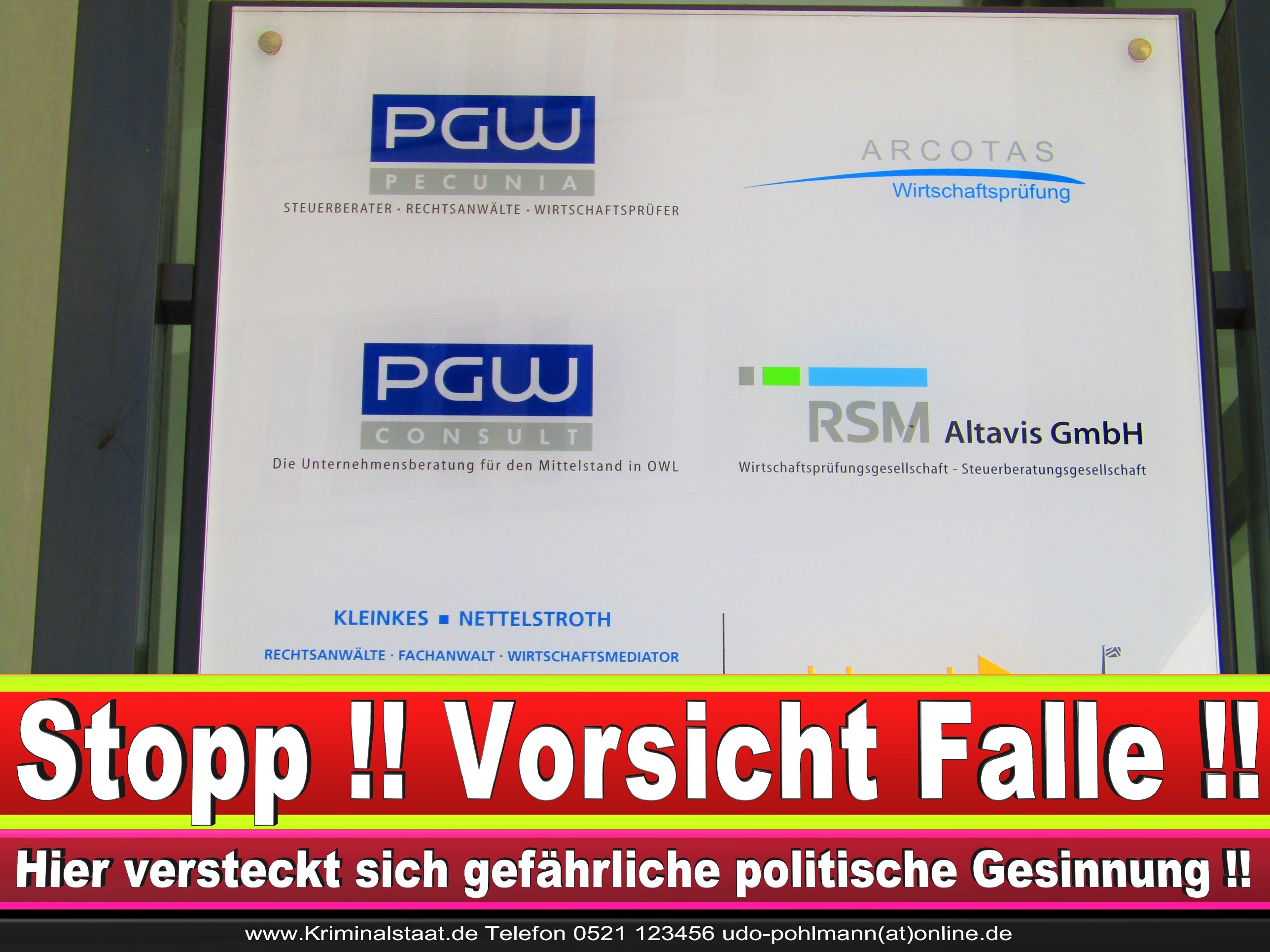 Rechtsanwalt Marcus Kleinkes Adenauer Platz 7 Bielefeld CDU 1