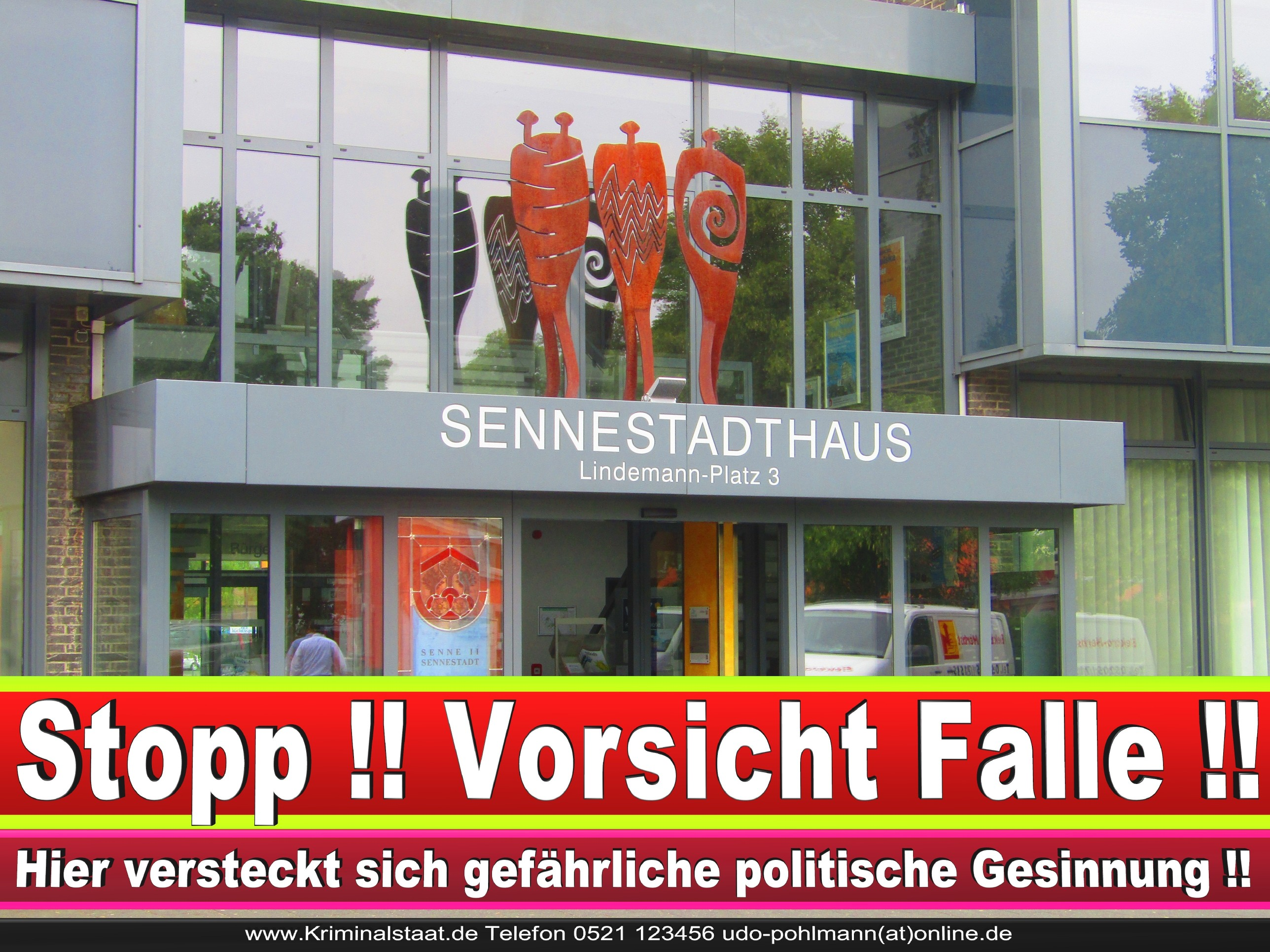SENNESTADTVEREIN CDU BIELEFELD 3 LANDTAGSWAHL BUNDESTAGSWAHL BÜRGERMEISTERWAHL