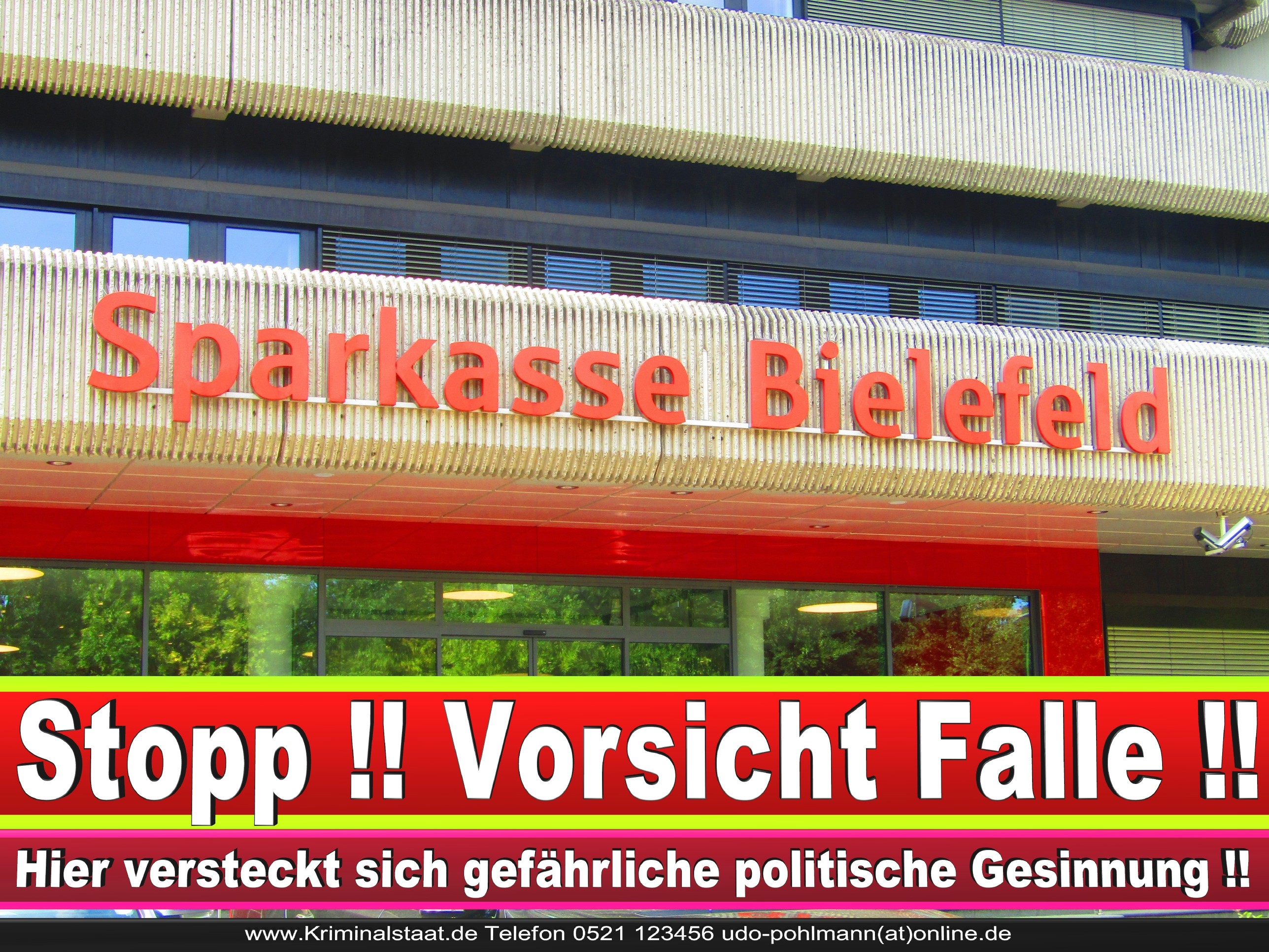 SPARKASSE BIELEFELD ANDREAS RÜTHER CDU BIELEFELD 3 LANDTAGSWAHL BUNDESTAGSWAHL BÜRGERMEISTERWAHL