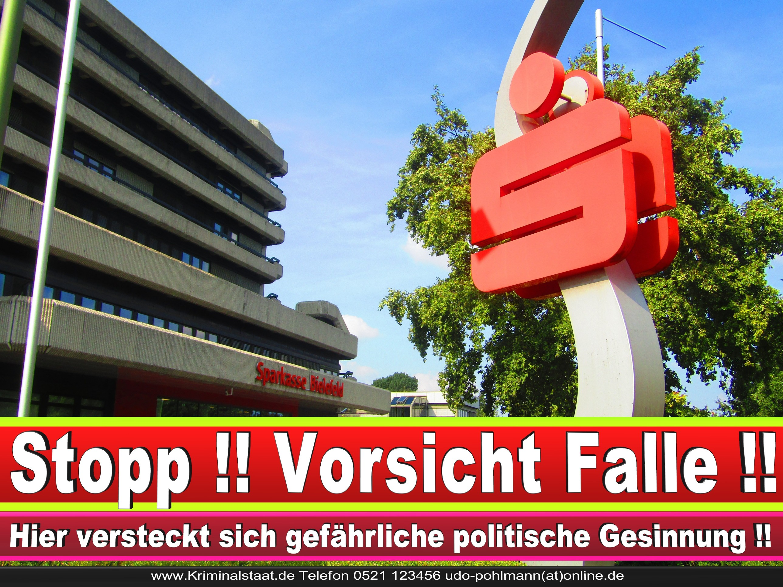SPARKASSE BIELEFELD ANDREAS RÜTHER CDU BIELEFELD 5 LANDTAGSWAHL BUNDESTAGSWAHL BÜRGERMEISTERWAHL