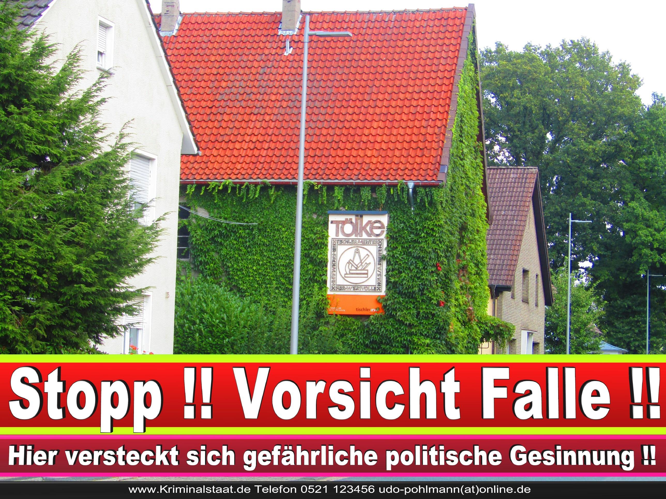 TISCHLEREI TOELKE CDU BIELEFELD TÖLKE 7 LANDTAGSWAHL BUNDESTAGSWAHL BÜRGERMEISTERWAHL