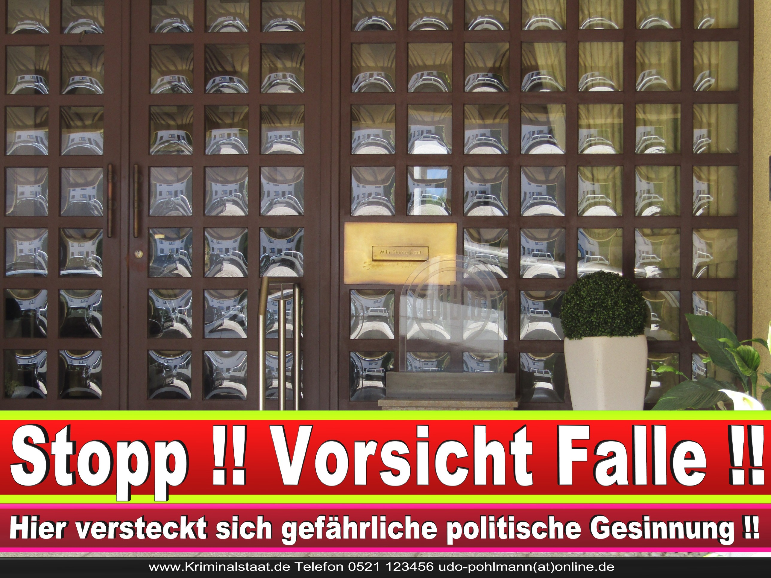 WILLI BLUMENSAAT CDU BIELEFELD LANDTAGSWAHL BUNDESTAGSWAHL BÜRGERMEISTERWAHL