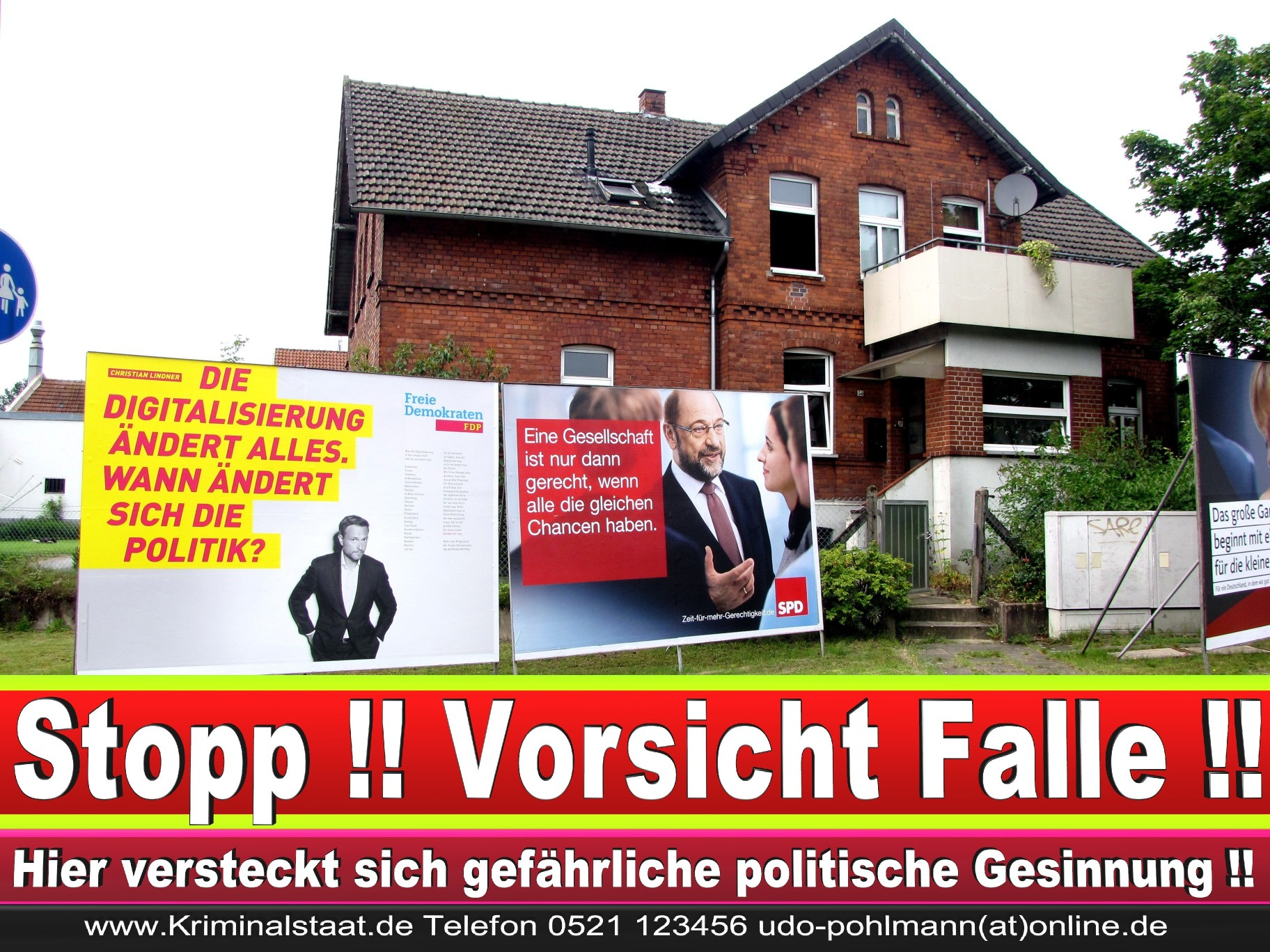 Wahlwerbung Wahlplakate Landtagswahl 2019 Europawahl CDU SPD FDP 2021 (100)