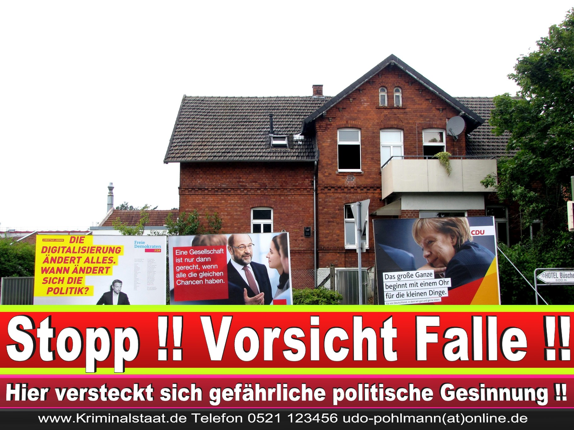 Wahlwerbung Wahlplakate Landtagswahl 2019 Europawahl CDU SPD FDP 2021 (64)
