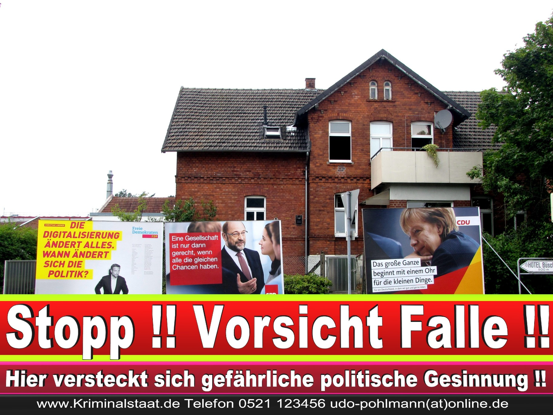 Wahlwerbung Wahlplakate Landtagswahl 2019 Europawahl CDU SPD FDP 2021 (66)