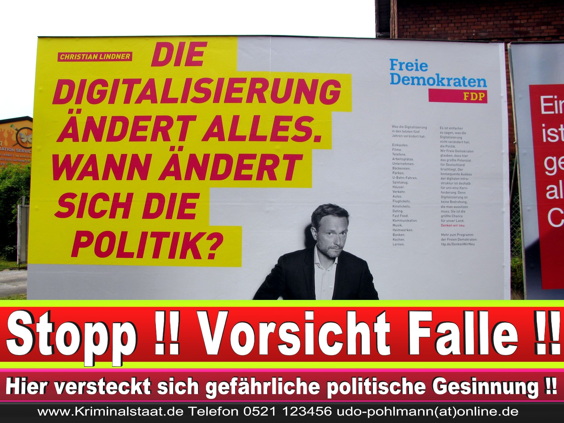 Wahlwerbung Wahlplakate Landtagswahl 2019 Europawahl CDU SPD FDP 2021 (92)