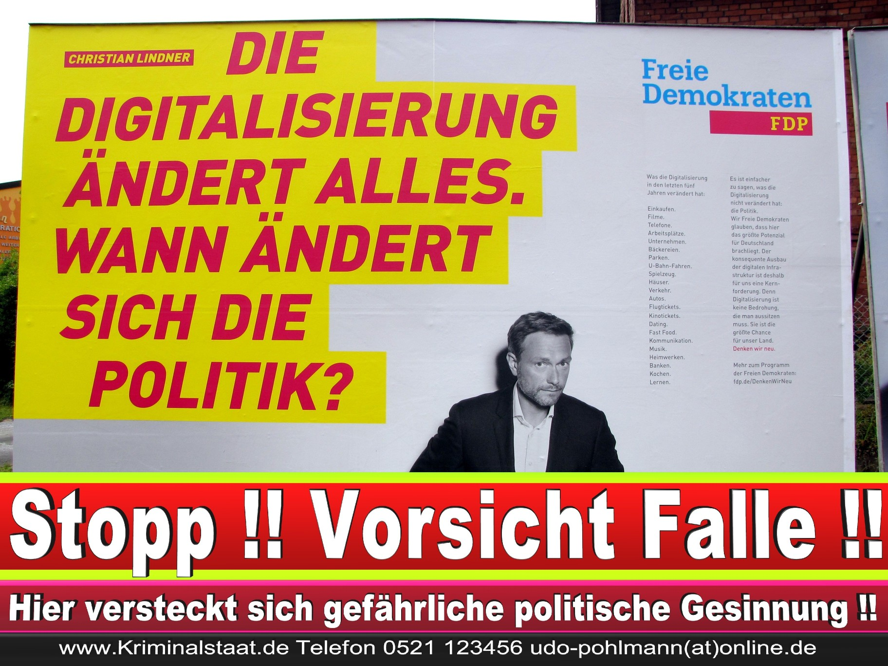 Wahlwerbung Wahlplakate Landtagswahl 2019 Europawahl CDU SPD FDP 2021 (94)
